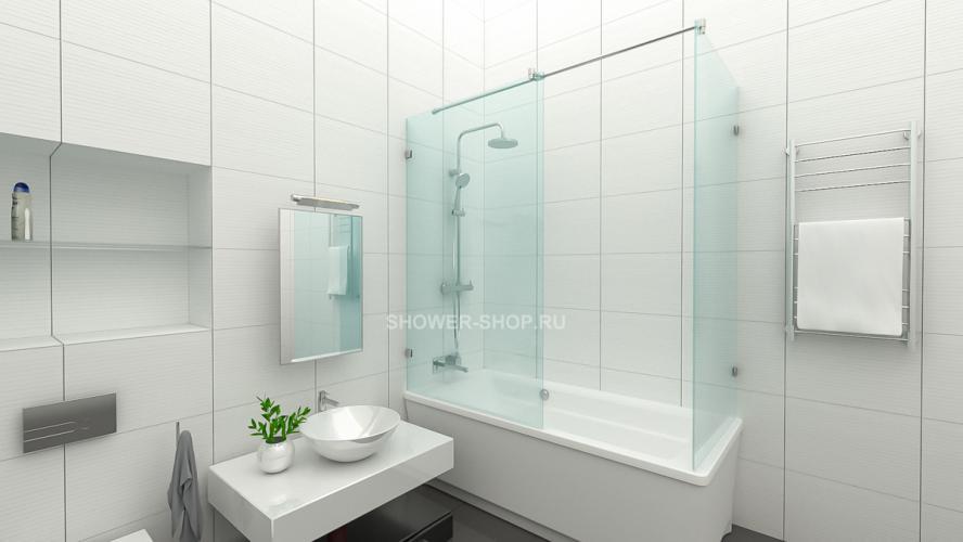 Угловая шторка на ванну №106